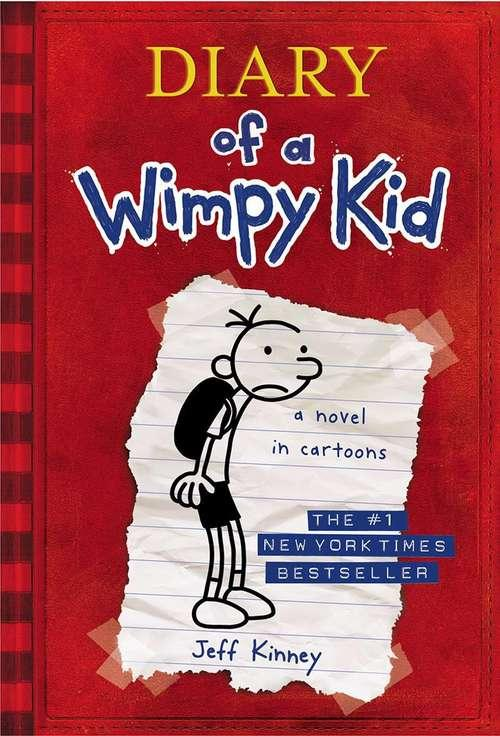 Collection sample book cover Diary of a Wimpy Kid, pencil sketch of boy with backpack