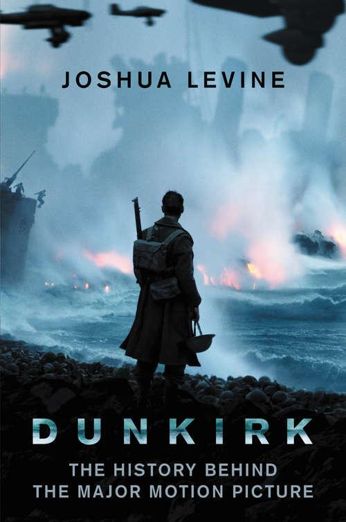 Collection sample book cover Dunkirk, silhouette of soldier looking at war-torn beach